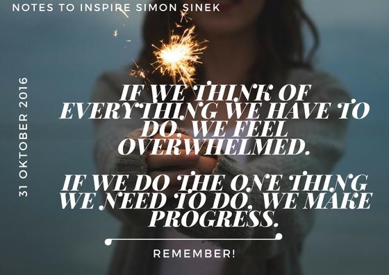 Note to inspire Simon Sinek Van stress kun je af.