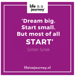 Quote dream big start small but start Simon Sinek